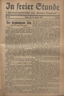 "In Freier Stunde : Unterhaltungsbeilage zum ""Posener Tageblatt"". Jg.2, Nr. 25 (31 Januar 1928)"