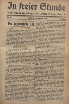 """In Freier Stunde : Unterhaltungsbeilage zum """"Posener Tageblatt"""". Jg.2, Nr. 27 (2 Februar 1928)"""