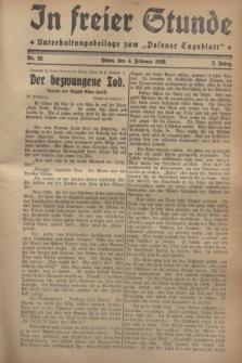 """In Freier Stunde : Unterhaltungsbeilage zum """"Posener Tageblatt"""". Jg.2, Nr. 28 (4 Februar 1928)"""