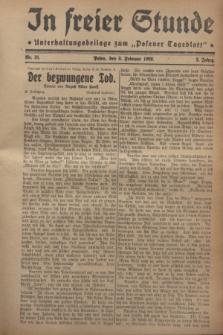 """In Freier Stunde : Unterhaltungsbeilage zum """"Posener Tageblatt"""". Jg.2, Nr. 31 (8 Februar 1928)"""