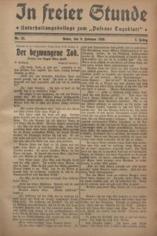 """In Freier Stunde : Unterhaltungsbeilage zum """"Posener Tageblatt"""". Jg.2, Nr. 32 (9 Februar 1928)"""