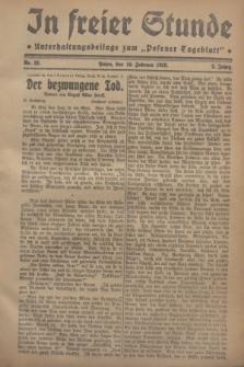 """In Freier Stunde : Unterhaltungsbeilage zum """"Posener Tageblatt"""". Jg.2, Nr. 33 (10 Februar 1928)"""