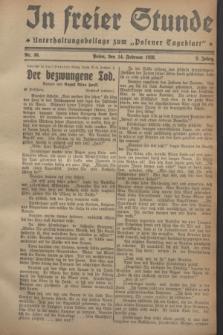"""In Freier Stunde : Unterhaltungsbeilage zum """"Posener Tageblatt"""". Jg.2, Nr. 36 (14 Februar 1928)"""