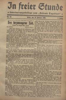 """In Freier Stunde : Unterhaltungsbeilage zum """"Posener Tageblatt"""". Jg.2, Nr. 38 (16 Februar 1928)"""