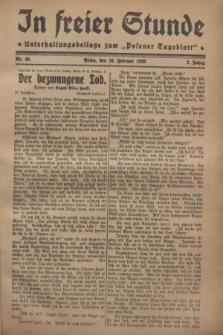 """In Freier Stunde : Unterhaltungsbeilage zum """"Posener Tageblatt"""". Jg.2, Nr. 40 (18 Februar 1928)"""