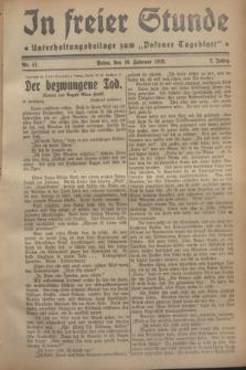 """In Freier Stunde : Unterhaltungsbeilage zum """"Posener Tageblatt"""". Jg.2, Nr. 41 (19 Februar 1928)"""