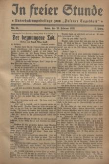 """In Freier Stunde : Unterhaltungsbeilage zum """"Posener Tageblatt"""". Jg.2, Nr. 44 (23 Februar 1928)"""