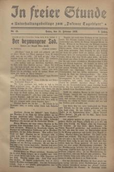 """In Freier Stunde : Unterhaltungsbeilage zum """"Posener Tageblatt"""". Jg.2, Nr. 45 (24 Februar 1928)"""