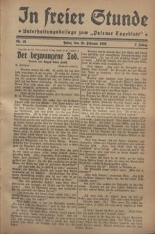 """In Freier Stunde : Unterhaltungsbeilage zum """"Posener Tageblatt"""". Jg.2, Nr. 46 (25 Februar 1928)"""
