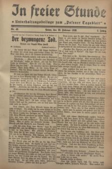"""In Freier Stunde : Unterhaltungsbeilage zum """"Posener Tageblatt"""". Jg.2, Nr. 49 (29 Februar 1928)"""