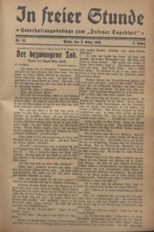 """In Freier Stunde : Unterhaltungsbeilage zum """"Posener Tageblatt"""". Jg.2, Nr. 52 (3 März 1928)"""