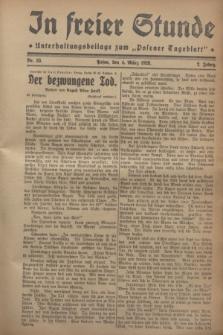 """In Freier Stunde : Unterhaltungsbeilage zum """"Posener Tageblatt"""". Jg.2, Nr. 53 (4 März 1928)"""
