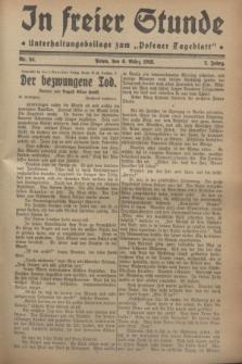 """In Freier Stunde : Unterhaltungsbeilage zum """"Posener Tageblatt"""". Jg.2, Nr. 54 (6 März 1928)"""