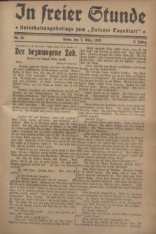 """In Freier Stunde : Unterhaltungsbeilage zum """"Posener Tageblatt"""". Jg.2, Nr. 55 (7 März 1928)"""