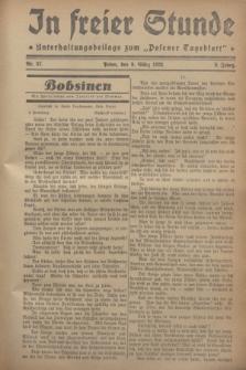 """In Freier Stunde : Unterhaltungsbeilage zum """"Posener Tageblatt"""". Jg.2, Nr. 57 (9 März 1928)"""
