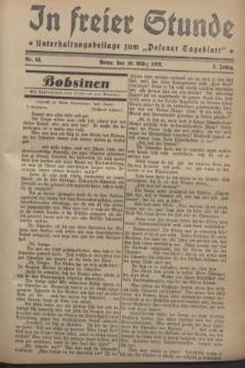 """In Freier Stunde : Unterhaltungsbeilage zum """"Posener Tageblatt"""". Jg.2, Nr. 58 (10 März 1928)"""