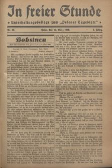 """In Freier Stunde : Unterhaltungsbeilage zum """"Posener Tageblatt"""". Jg.2, Nr. 59 (11 März 1928)"""