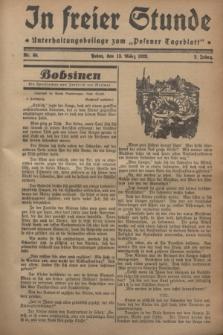 """In Freier Stunde : Unterhaltungsbeilage zum """"Posener Tageblatt"""". Jg.2, Nr. 60 (13 März 1928)"""
