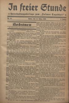 """In Freier Stunde : Unterhaltungsbeilage zum """"Posener Tageblatt"""". Jg.2, Nr. 61 (14 März 1928)"""