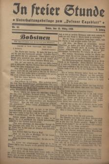 """In Freier Stunde : Unterhaltungsbeilage zum """"Posener Tageblatt"""". Jg.2, Nr. 62 (15 März 1928)"""
