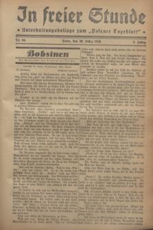 """In Freier Stunde : Unterhaltungsbeilage zum """"Posener Tageblatt"""". Jg.2, Nr. 66 (20 März 1928)"""