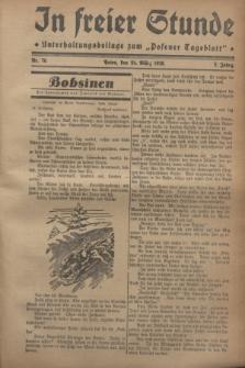 """In Freier Stunde : Unterhaltungsbeilage zum """"Posener Tageblatt"""". Jg.2, Nr. 70 (24 März 1928)"""