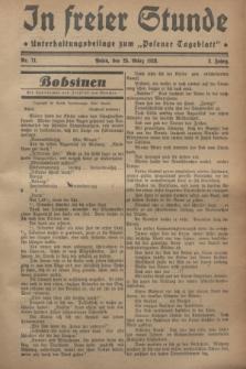 """In Freier Stunde : Unterhaltungsbeilage zum """"Posener Tageblatt"""". Jg.2, Nr. 71 (25 März 1928)"""