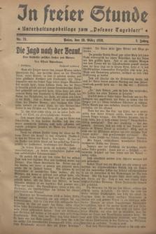 """In Freier Stunde : Unterhaltungsbeilage zum """"Posener Tageblatt"""". Jg.2, Nr. 73 (28 März 1928)"""