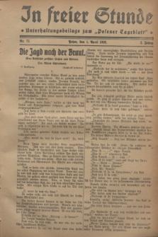 """In Freier Stunde : Unterhaltungsbeilage zum """"Posener Tageblatt"""". Jg.2, Nr. 77 (1 April 1928)"""