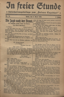 """In Freier Stunde : Unterhaltungsbeilage zum """"Posener Tageblatt"""". Jg.2, Nr. 78 (3 April 1928)"""
