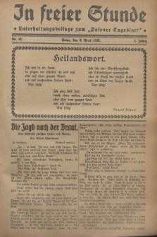 """In Freier Stunde : Unterhaltungsbeilage zum """"Posener Tageblatt"""". Jg.2, Nr. 82 (8 April 1928)"""