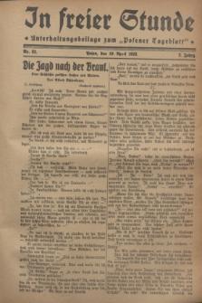 """In Freier Stunde : Unterhaltungsbeilage zum """"Posener Tageblatt"""". Jg.2, Nr. 83 (10 April 1928)"""