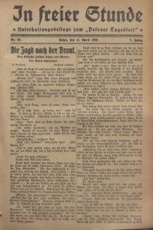 """In Freier Stunde : Unterhaltungsbeilage zum """"Posener Tageblatt"""". Jg.2, Nr. 84 (11 April 1928)"""