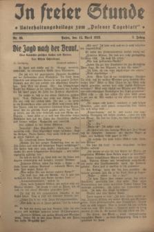 """In Freier Stunde : Unterhaltungsbeilage zum """"Posener Tageblatt"""". Jg.2, Nr. 85 (12 April 1928)"""