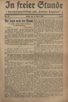 """In Freier Stunde : Unterhaltungsbeilage zum """"Posener Tageblatt"""". Jg.2, Nr. 86 (14 April 1928)"""