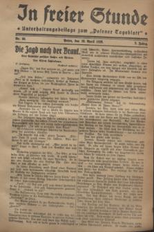 """In Freier Stunde : Unterhaltungsbeilage zum """"Posener Tageblatt"""". Jg.2, Nr. 89 (18 April 1928)"""