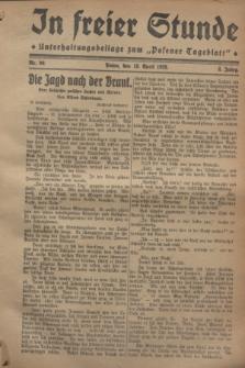 """In Freier Stunde : Unterhaltungsbeilage zum """"Posener Tageblatt"""". Jg.2, Nr. 90 (19 April 1928)"""