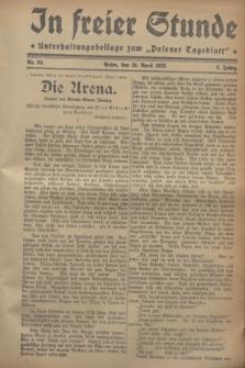 """In Freier Stunde : Unterhaltungsbeilage zum """"Posener Tageblatt"""". Jg.2, Nr. 94 (24 April 1928)"""
