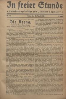 """In Freier Stunde : Unterhaltungsbeilage zum """"Posener Tageblatt"""". Jg.2, Nr. 97 (27 April 1928)"""