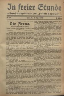 """In Freier Stunde : Unterhaltungsbeilage zum """"Posener Tageblatt"""". Jg.2, Nr. 98 (28 April 1928)"""