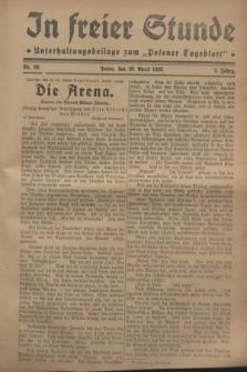 """In Freier Stunde : Unterhaltungsbeilage zum """"Posener Tageblatt"""". Jg.2, Nr. 99 (29 April 1928)"""