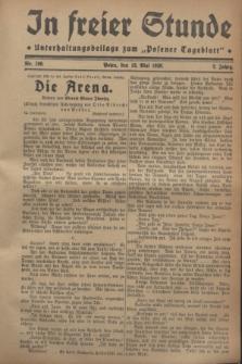 """In Freier Stunde : Unterhaltungsbeilage zum """"Posener Tageblatt"""". Jg.2, Nr. 109 (12 Mai 1928)"""