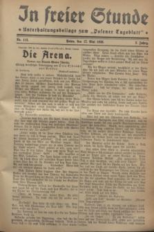"""In Freier Stunde : Unterhaltungsbeilage zum """"Posener Tageblatt"""". Jg.2, Nr. 113 (17 Mai 1928)"""