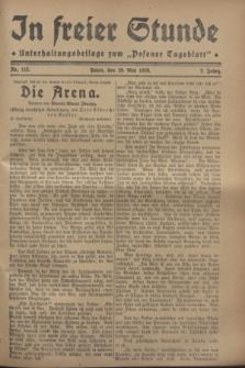 """In Freier Stunde : Unterhaltungsbeilage zum """"Posener Tageblatt"""". Jg.2, Nr. 115 (20 Mai 1928)"""