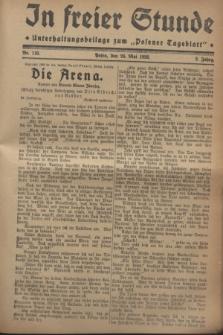 """In Freier Stunde : Unterhaltungsbeilage zum """"Posener Tageblatt"""". Jg.2, Nr. 118 (24 Mai 1928)"""
