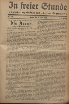 """In Freier Stunde : Unterhaltungsbeilage zum """"Posener Tageblatt"""". Jg.2, Nr. 121 (27 Mai 1928)"""