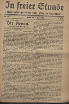 """In Freier Stunde : Unterhaltungsbeilage zum """"Posener Tageblatt"""". Jg.2, Nr. 124 (1 Juni 1928)"""