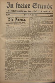 """In Freier Stunde : Unterhaltungsbeilage zum """"Posener Tageblatt"""". Jg.2, Nr. 126 (3 Juni 1928)"""