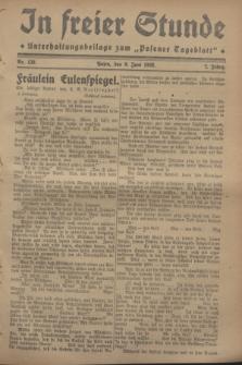 """In Freier Stunde : Unterhaltungsbeilage zum """"Posener Tageblatt"""". Jg.2, Nr. 130 (9 Juni 1928)"""