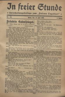 """In Freier Stunde : Unterhaltungsbeilage zum """"Posener Tageblatt"""". Jg.2, Nr. 133 (13 Juni 1928)"""